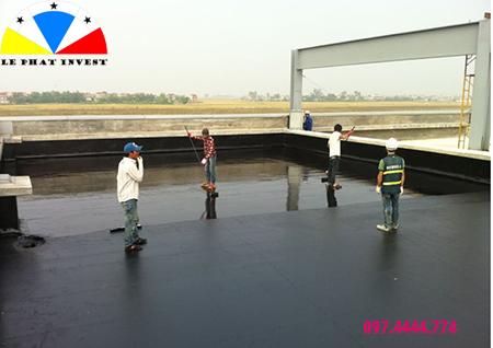 thi công sơn sàn mái