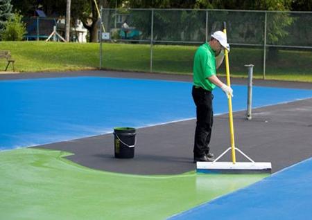 sơn sàn tenis