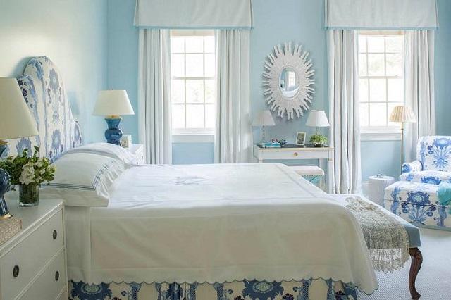 phòng khách màu xanh