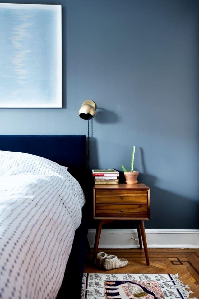 Phòng ngủ xanh nhạt