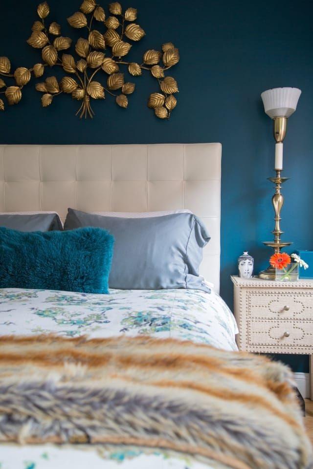 Phòng ngủ màu xanh bạc hà