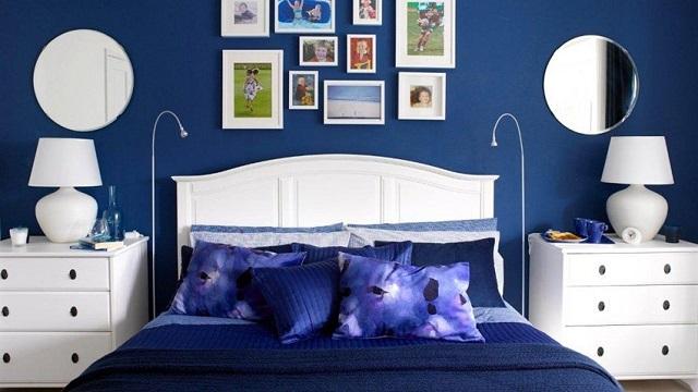 Phòng ngủ gam màu xanh da trời
