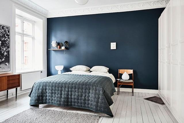 Phòng ngủ tone xanh lavender nhạt